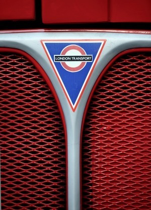 London Transport Logo on a Bus