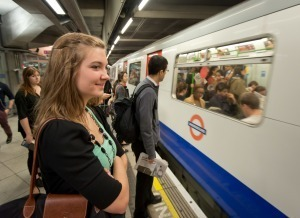 London Undergraduate Taking the Tube