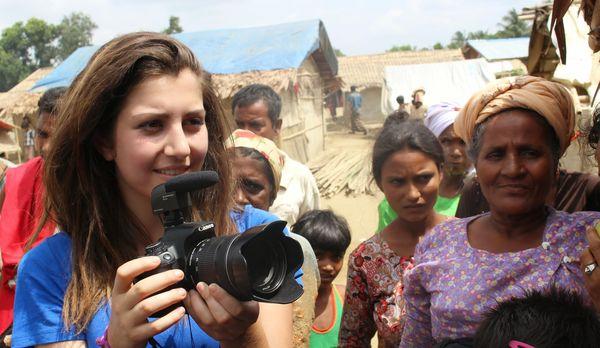 Nicole Sganga in Myanmar