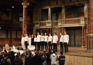 Fall 2014 Playing Shakespeare class perform Julius Caesar at Shakespeare's Globe theatre