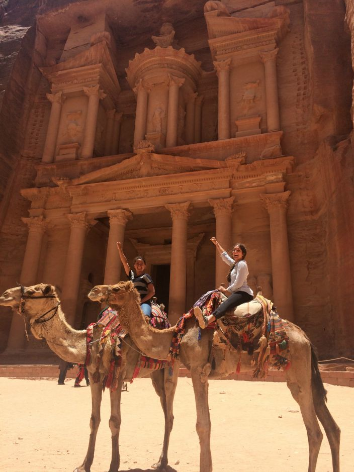 Camels at Petra Treasury