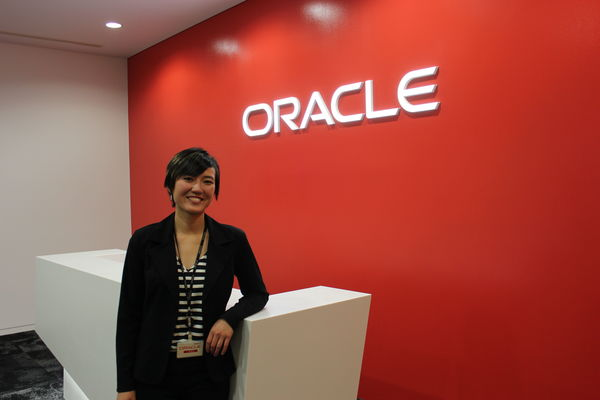 Emily Campagna in Tokyo Oracle internship