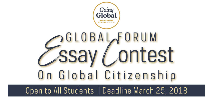 Global Forum Applications Open For Student Essay Contest On Global